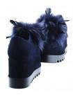 12597 NORAH (Italy) Полуботинки осенние замшевые синие