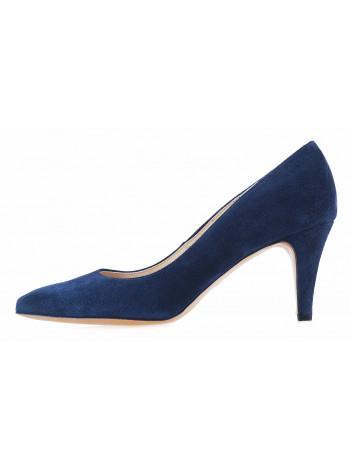 12624 SHOEBOOUTIQUE (Poland) Туфли замшевые синие