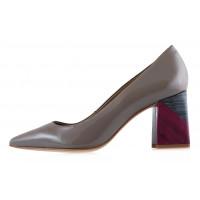 12651 INDIANA (Brazil) Туфли лаковые серые