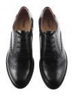 12663 NERO GIARDINI (Italy) Туфли-броги осенние кожаные черные