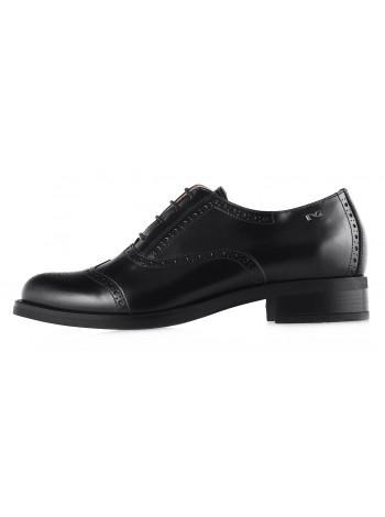 Туфли-броги кожаные NERO GIARDINI (ИТАЛИЯ) 12663 черные