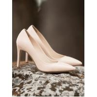Туфли кожаные BEFEETGERALD (ИТАЛИЯ) 12669 светло-розовые