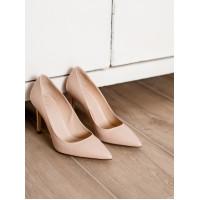 Туфли кожаные BEFEETGERALD (ИТАЛИЯ) 12670 светло-бежевые
