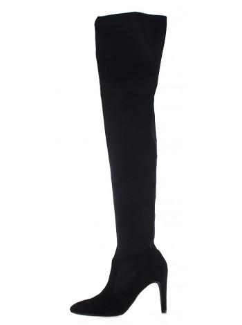 12677 TAMARIS (Germany) Сапоги осенние текстильно-замшевые черные