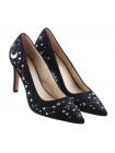 12745 LODI (Spain) Туфли замшевые черно-фиолетово-серебристые