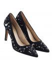 12746 LODI (Spain) Туфли замшевые черно-серо-серебристые