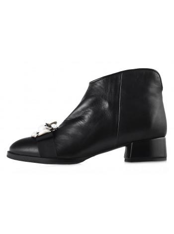 12749 HELENA SORETTI (Italy) Ботинки осенние кожаные черные