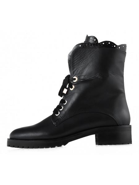 12751 HELENA SORETTI (Italy) Ботинки осенние кожаные черные