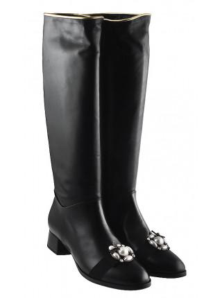 Сапоги осенние кожаные HELENA SORETTI (Italy) 12753 черные