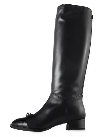 Сапоги осенние кожаные HELENA SORETTI (ИТАЛИЯ) 12754 черные