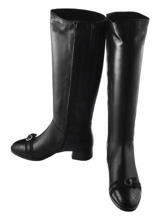 12754 HELENA SORETTI (Italy) Сапоги осенние кожаные черные