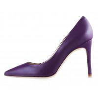 Туфли кожаные BEFEETGERALD (ИТАЛИЯ) 12768 фиолетовые