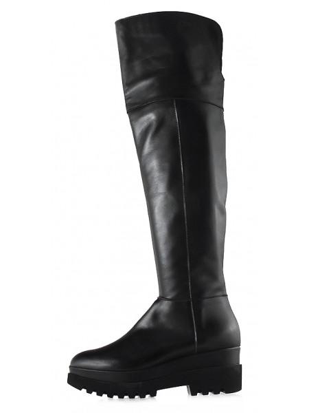 Сапоги осенние кожаные BEFEETGERALD (Italy) 12780 черные