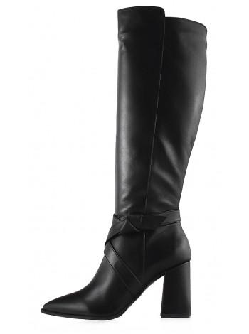 12791 VICTIM (Poland) Сапоги осенние кожаные черные