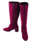 12801 BEFEETGERALD (Italy) Сапоги осенние замшевые фиолетовые
