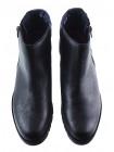 12809 CALLAGHAN (Spain) Полуботинки осенние кожаные черно-серебристые