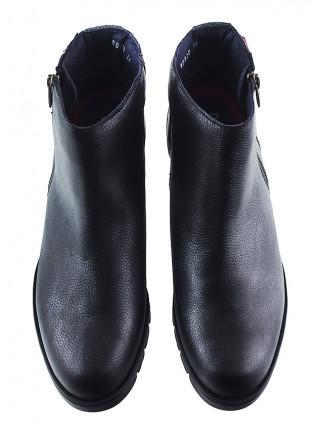 Полуботинки осенние кожаные CALLAGHAN (ИСПАНИЯ) 12809 черно-серебристые