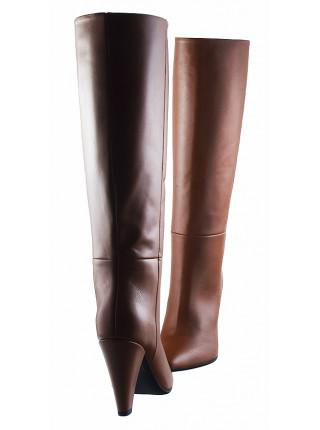 Сапоги осенние кожаные BEFEETGERALD (Italy) 12817 коричневые