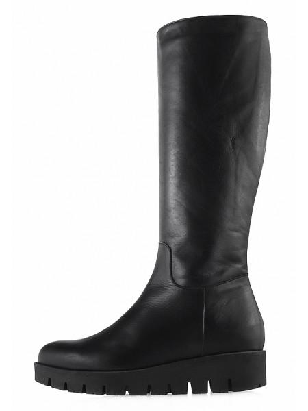 Сапоги осенние кожаные BEFEETGERALD (Italy) 12819 черные
