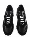 12838 GIANROS (Italy) Кроссовки замшево-кожаные черные
