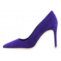 Туфли замшевые BEFEETGERALD (ИТАЛИЯ) 12923 фиолетовые