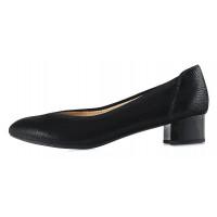 12933 CAPRICE (Germany) Туфли замшево-лаковые черные рептилия