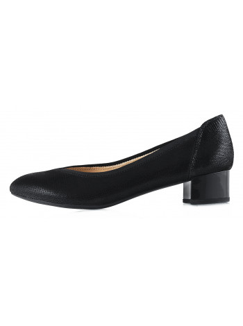 12933 CAPRICE (Germany) Туфли замшевые черные рептилия