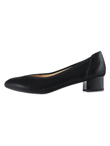 Туфли замшевые под рептилию CAPRICE (Germany) 12933 черные