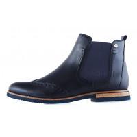12980 TAMARIS (Germany) Полуботинки осенние кожаные темно-синие