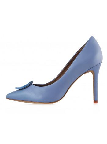 13009 INDIANA (Brazil) Туфли кожаные голубые