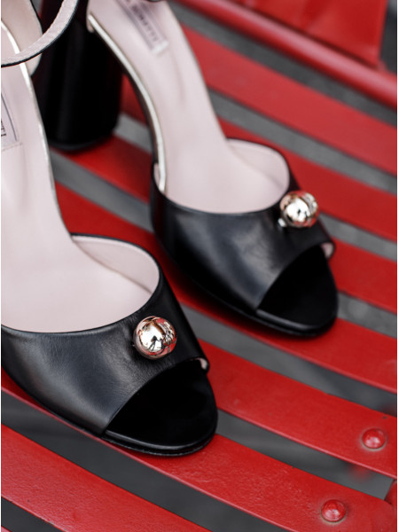 Босоножки кожаные HELENA SORETTI (ИТАЛИЯ) 13085 черные