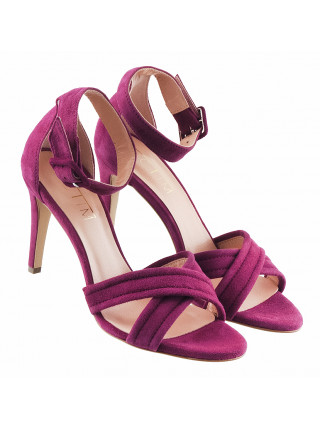 13087 VICTIM (Poland) Босоножки замшевые фиолетовые