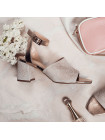13095 VICTIM (Poland) Босоножки нубуково-кожаные розово-бронзовые