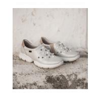 Кроссовки кожаные CALLAGHAN (Spain) 13110 серебристые