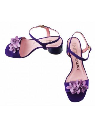 Босоножки замшевые INDIANA (Brazil) 13125 фиолетовые