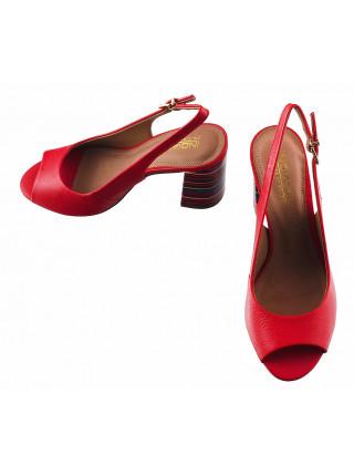 Босоножки кожаные INDIANA (Brazil) 13132 красные