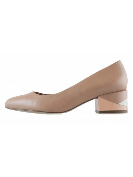13137 INDIANA (Brazil) Туфли кожаные бежевые