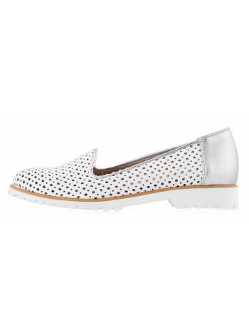 13164 CONHPOL RELAX (Poland ) Туфли закрытые белые сетка сквозная