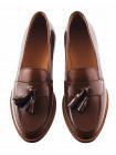 13170 ADOLFO CARLI (Italy) Пенилоферы кожаные коричневые