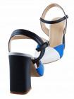 Босоножки закрытые кожаные BEFEETGERALD (ИТАЛИЯ) 13216 голубые
