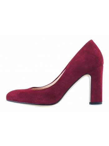 Туфли замшевые SHOEBOOUTIQUE (Poland ) 13220 бордовые