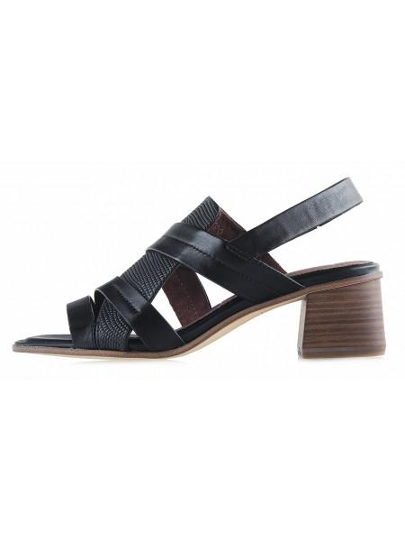 13265 TAMARIS (Germany) Босоножки кожаные черные