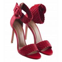 Босоножки кожаные DIVINO (Turkey) 13276 красные