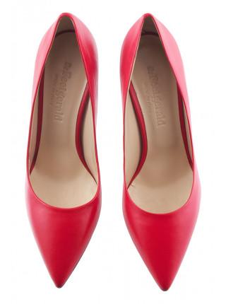 Туфли кожаные BEFEETGERALD (ИТАЛИЯ) 13373 красные
