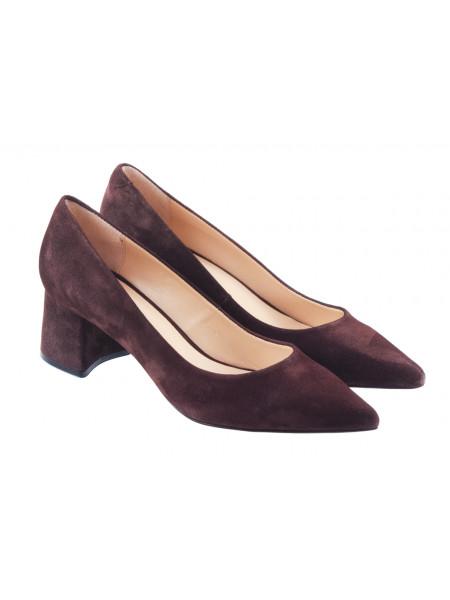 Туфли замшевые ROSE CORVINA (Turkey) 13376 темно-коричневые