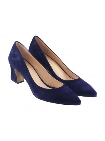 Туфли замшевые ROSE CORVINA (Turkey) 13380 темно-синие