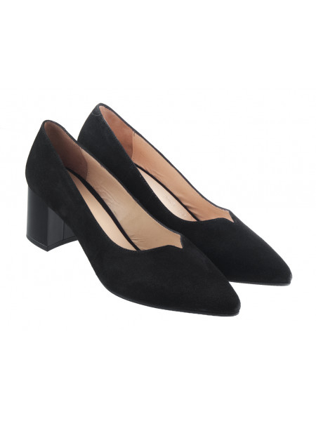 Туфли замшевые ROSE CORVINA (Turkey) 13384 черные