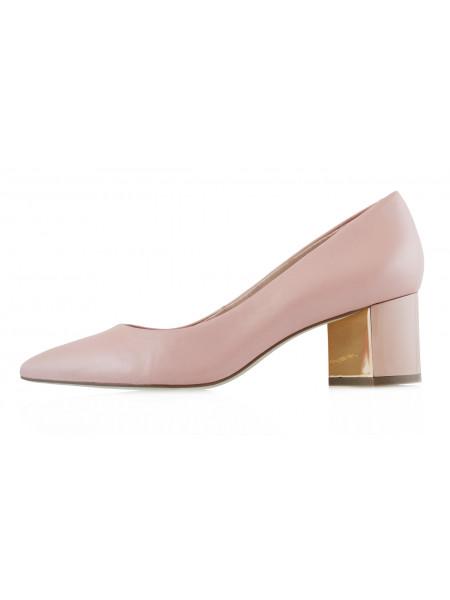 13392 INDIANA (Brazil) Туфли кожаные бежевые