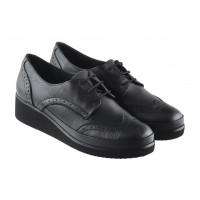 13395 DESCARA (Turkey) Туфли-броги осенние кожаные черные