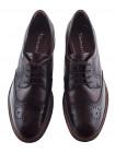 13412 TAMARIS (Germany) Туфли-броги осенние кожано-лаковые темно-коричневые